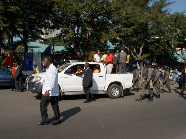Maputo - Convoi officiel